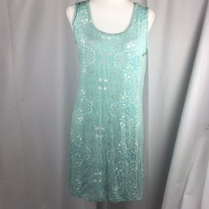 Simply Noelle s/m sleeveless dress turquoise B5